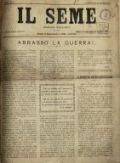 Il seme : giornale socialista
