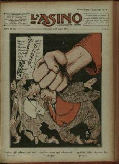 L' asino : settimanale illustrato