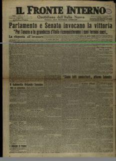 Il Fronte interno : quotidiano dell'Italia nuova