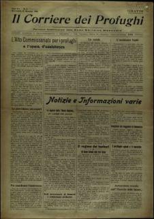 Il corriere dei profughi : periodico bisettimanale della casa editrice Mercurio