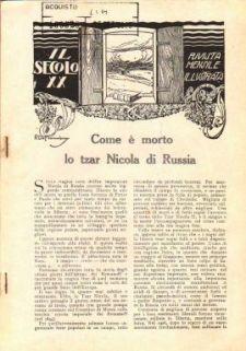 Il secolo 20. : rivista popolare illustrata