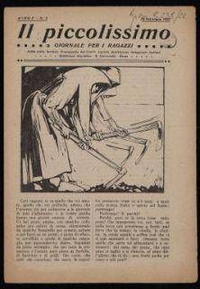 Il piccolissimo : giornale per ragazzi / edito dalla sezione propaganda del Comitato laziale dell'Unione insegnanti italiani e dalla Biblioteca giuridica della R. Università di Roma
