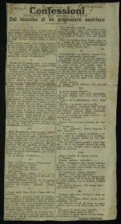 Confessioni dal taccuino di un prigioniero austriaco / capitano Boggero