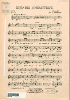 Inno dei combattenti / musica del Maestro Enrico Ranfagni ; parole del combattente Francesco Tazzari