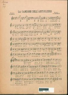La canzone dell'artigliere / musica di A. Costabile ; parole di R. Duroni