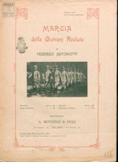 Marcia delle giovani reclute : per mandolino e chitarra / F. Antoniotti