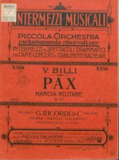 Op. 282 : Pax : marcia militare / riduzione dell'autore
