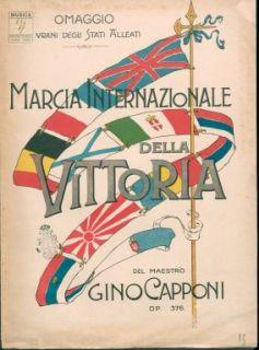 Op. 376 : Marcia internazionale della vittoria : [per pianoforte]