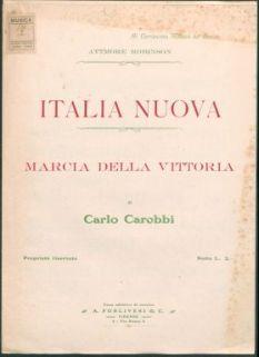 Italia nuova : Marcia della Vittoria, per pianoforte