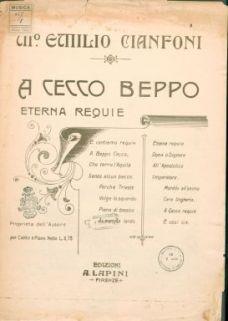 A Cecco Beppo eterna requie : Canto e piano