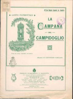 La campana del Campidoglio : Canto patriottico. Versi di Cosimo Tudisco