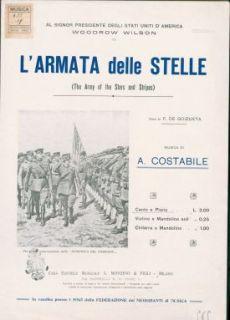 L' armata delle stelle : canto e piano / versi di F. De Goizueta