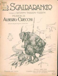 Lo scaldarancio : Canto e pianoforte. Poesia di Giovanni Targioni-Tozzetti