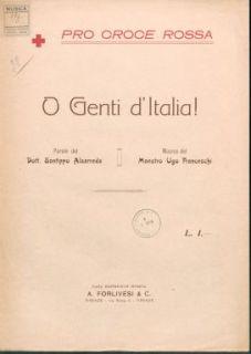 O genti d'Italia : Canto e piano. Parole del dott. Santippo Alsarreda