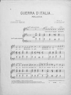Guerra d'Italia : melodia / versi di Ferruccio Ferroni ; musica di S. Gastaldon