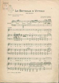 La battaglia di Vittorio : Inno marcia. Canto e piano