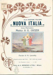 Nuova Italia : Inno patriottico, per pianoforte e canto. Parole di Nardo Leonelly