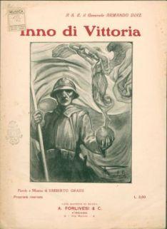 Inno di Vittoria : Canto e pianoforte. Parole e musica di Umberto Grassi