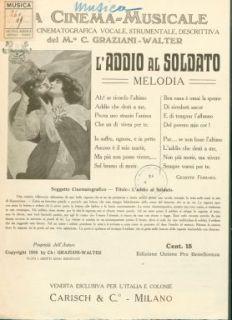 L' addio al soldato : Melodia per canto o mandolino. Parole di Giuseppe Ferrara