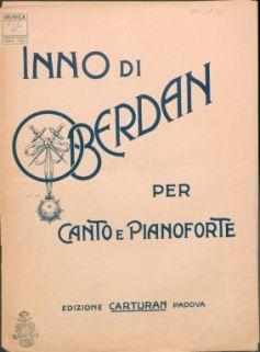 Inno di Oberdan, per canto e pianoforte