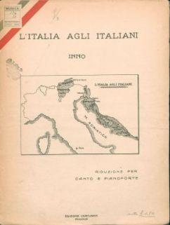 L' Italia agli italiani : inno : riduzione per canto e pianoforte