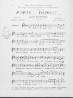 Morts!... Debout!... scene dramatique : chant et piano / paroles de Georges De Bussy