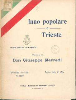 Inno popolare a Trieste : Canto e piano. Parole di D. Carocci