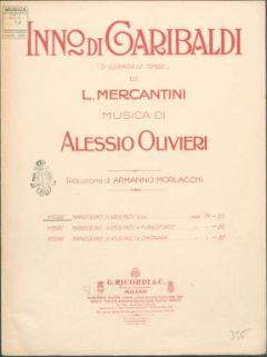 Inno di Garibaldi si scopron le tombe / di L. Mercantini ; riduzione di Armanno Morlacchi per mandolino (o violino) solo