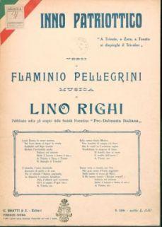 Inno patriottico : Canto e piano. Versi di Flaminio Pellegrini