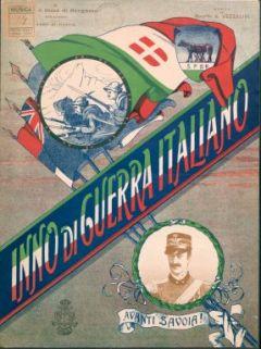 Inno di Guerra italiano avanti Savoia! : canto con accompagnamento di pianoforte