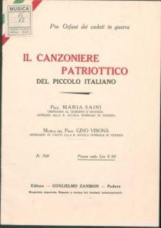 Il canzoniere patriottico del piccolo italiano / [versi della] prof. Maria Saini