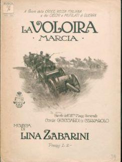 La voloira : Marcia ; Canto e pianoforte ; Parole del magg. Generale Guicciardi Di Cervarolo