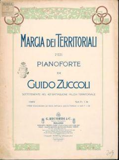 Marcia dei territoriali : per pianoforte / di Guido Zuccoli
