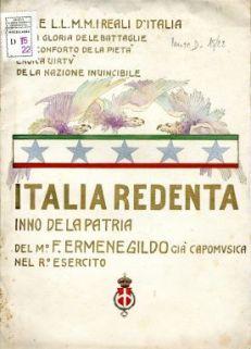Italia redenta : Inno de la patria / Musica di Francesco Ermenegildo ; Parole di Giuseppe Rametta Garofalo