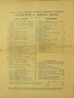 La canzone di Oberdan : per canto e piano / parole di G. Pastore ; musica di A. Gessi
