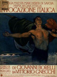 Invocazione italica  : Coro di popolo  / parole di G. Borelli  ; musica di V. Gnecchi