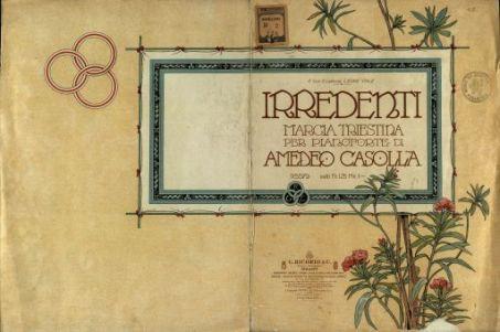 Irredenti: marcia triestina per pianoforte  / di Amedeo Casolla