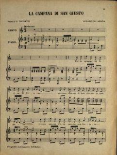 La Campana Di San Giusto.Spartiti Musicali 1418 Documenti E Immagini Della Grande Guerra