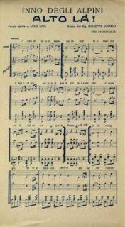 Inno degli alpini  : Alto là!  / musica del Sig. Giuseppe Sormani  ; parole dell'Avv. Luigi Nais