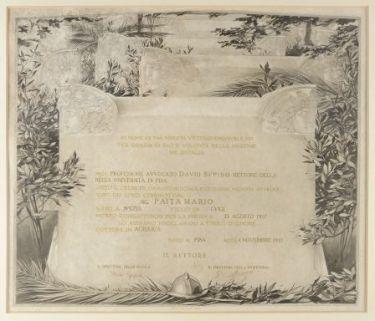 [Diploma di Laurea ad honorem in Agraria a Mario Paita]