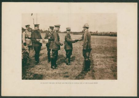 His majesty the king of Italy and the duke of connaught at the italian front